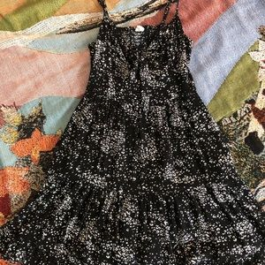 Black and White Flowered Garage Dress